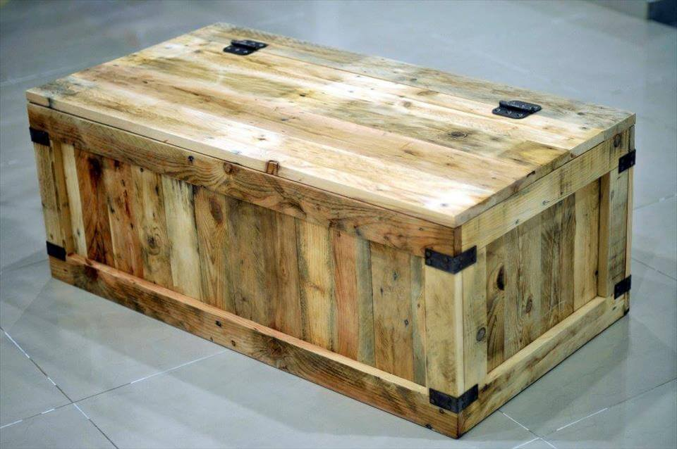 Pallet Wood Dog Toy Box
