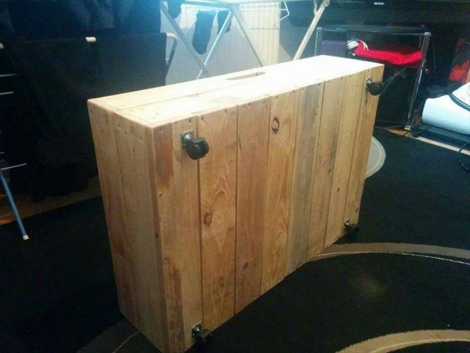 diy pallet under bed drawers with wheels 101 pallet ideas. Black Bedroom Furniture Sets. Home Design Ideas