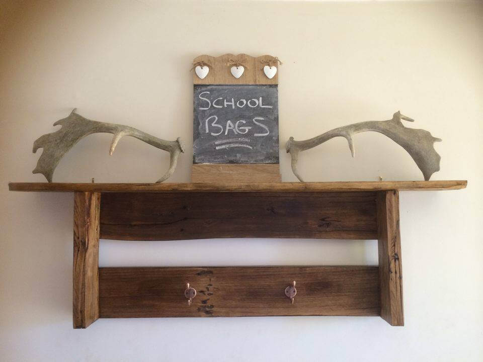 Pallet Wood Wall Shelf and Coat Rack