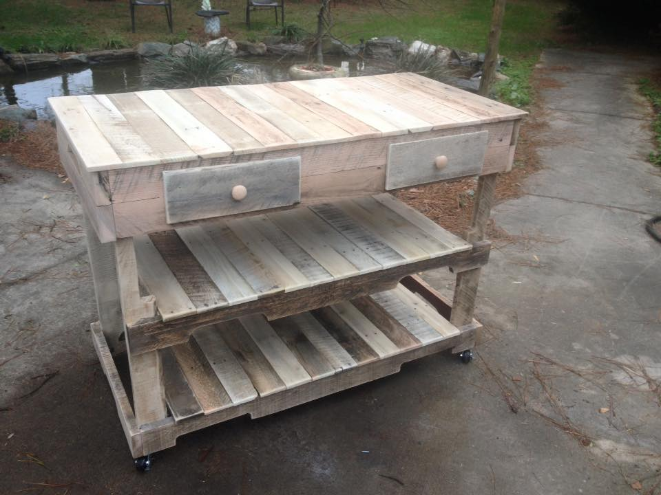 Pallets Made Kitchen Island