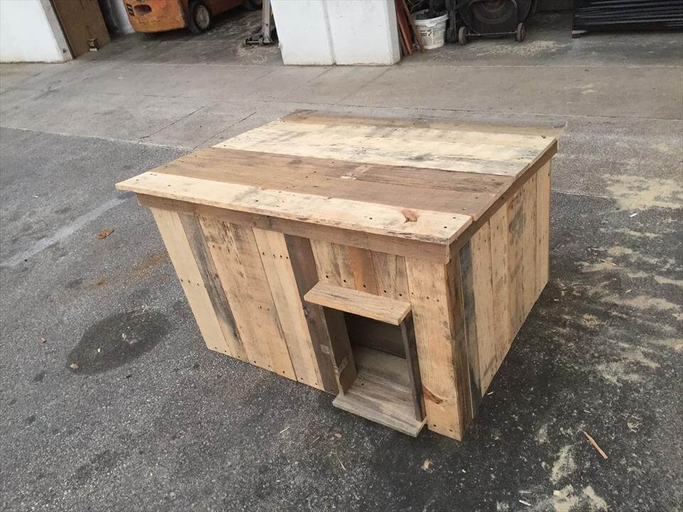 Dog House Made of Wooden Pallets