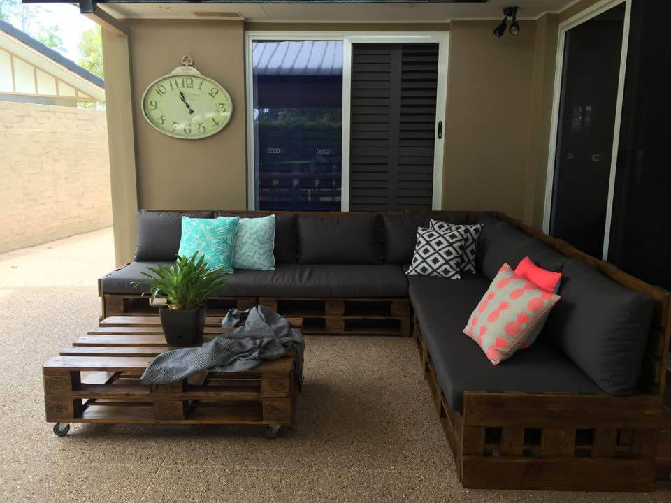 diy sectional pallet sofa set