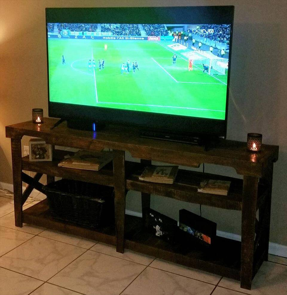 Diy Pallet Tv Console Table 101 Pallet Ideas