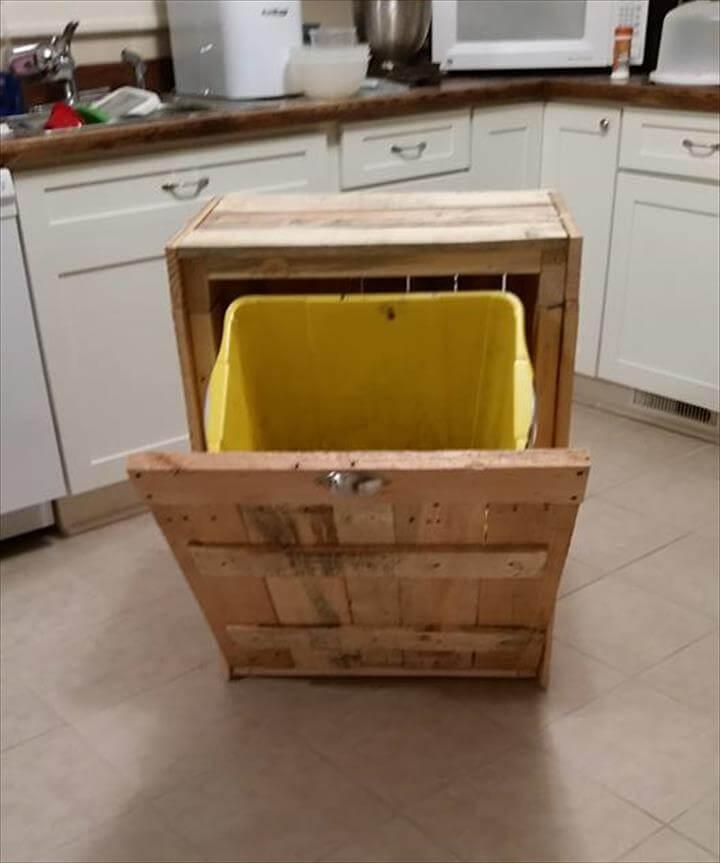 Kitchen Island Trash Can Holder