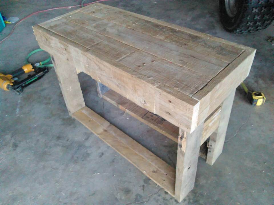 Mini Pallet Wood Bench