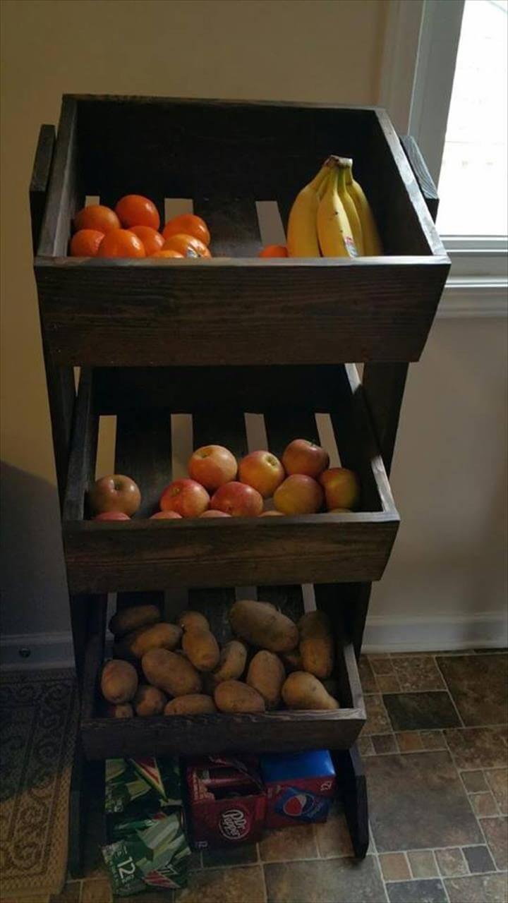 pallet fruit or vegetable organizer