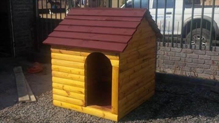 mini pallet pet house