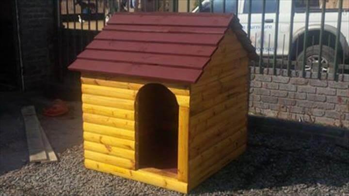 mini pallet pet house