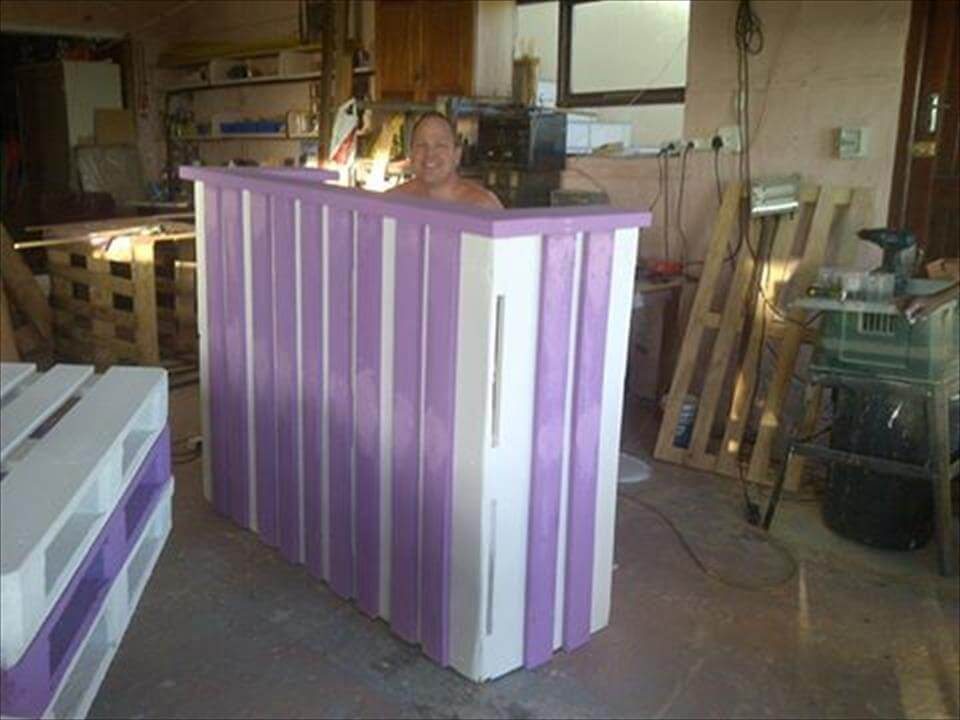 Pallets Wood Reception Desk