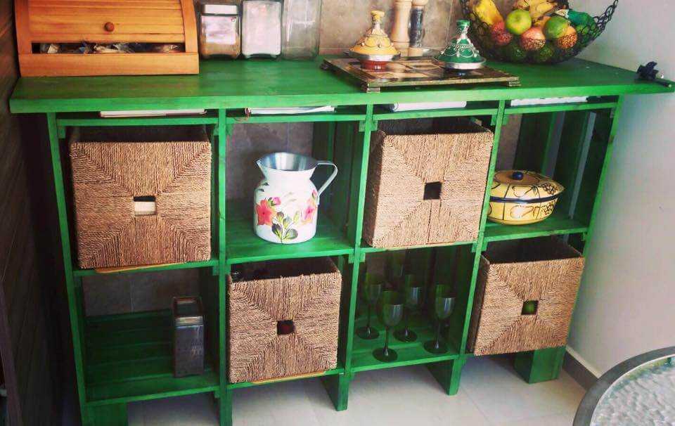 upcycled pallet storage rack