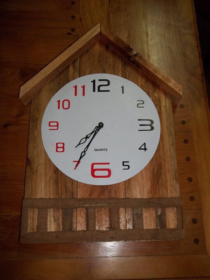 fancy wooden wall clock