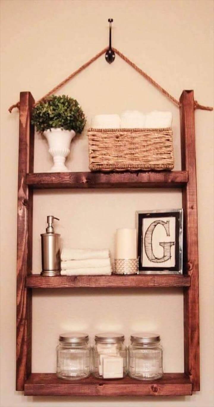diy pallet wall hanging shelf