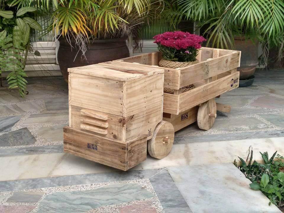 rustic pallet wood truck