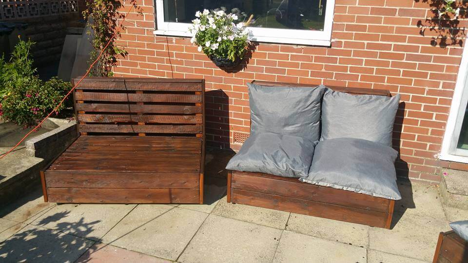 low-cost pallet outdoor seats
