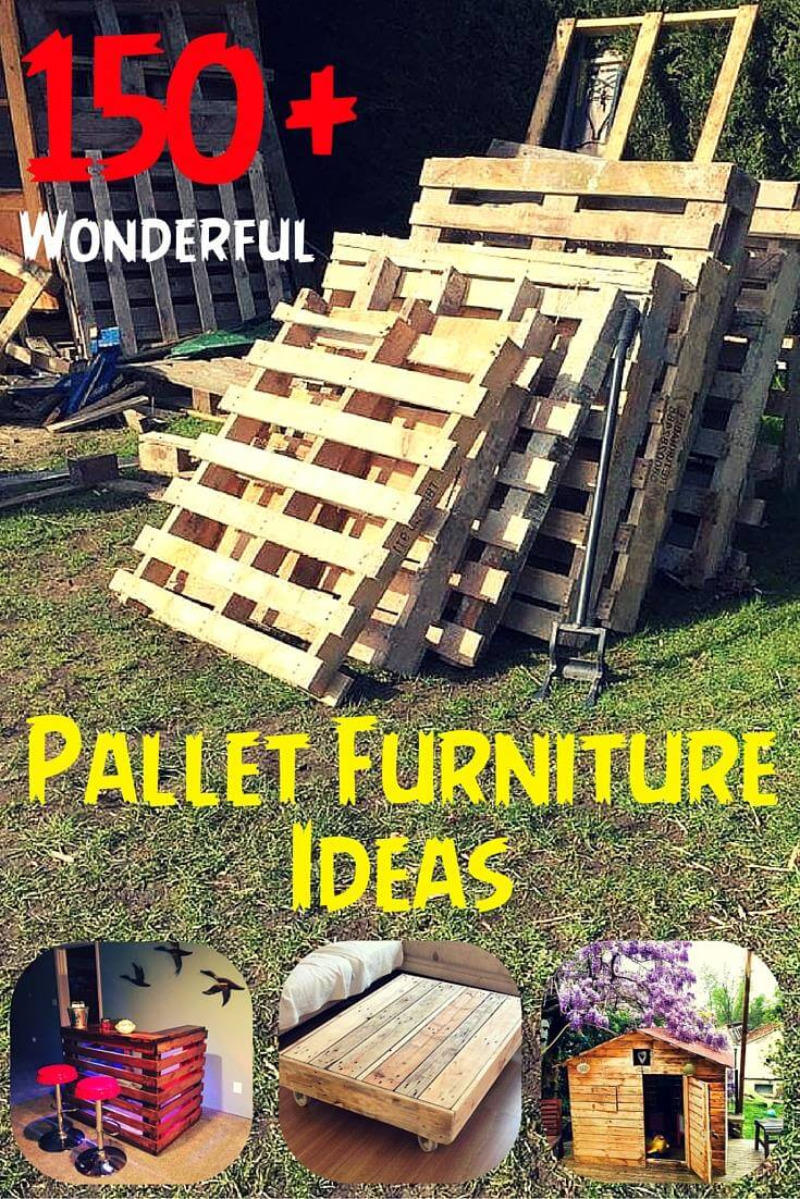 150 wonderful pallet furniture ideas page 5 of 16 101. Black Bedroom Furniture Sets. Home Design Ideas