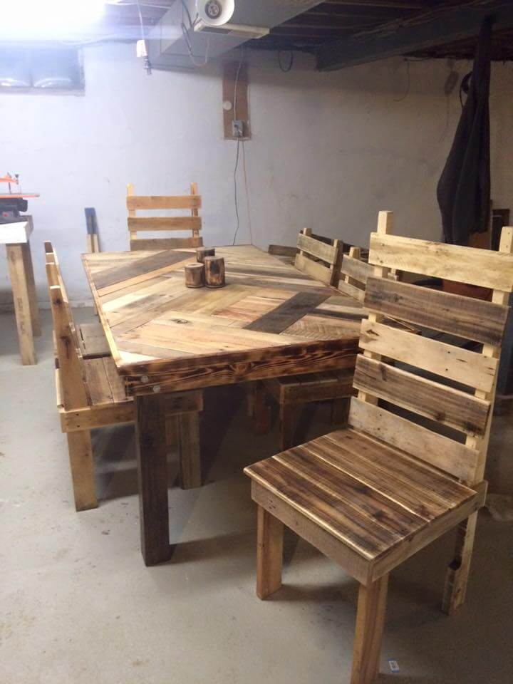How To Build A Pallet Dining Room Table