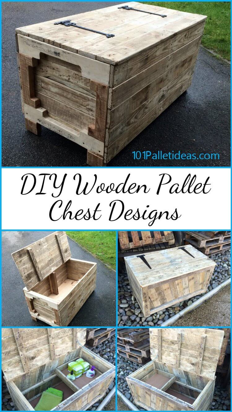 Diy Toy Chest With Lid additionally Bar Table Made Recycled Pallets ...