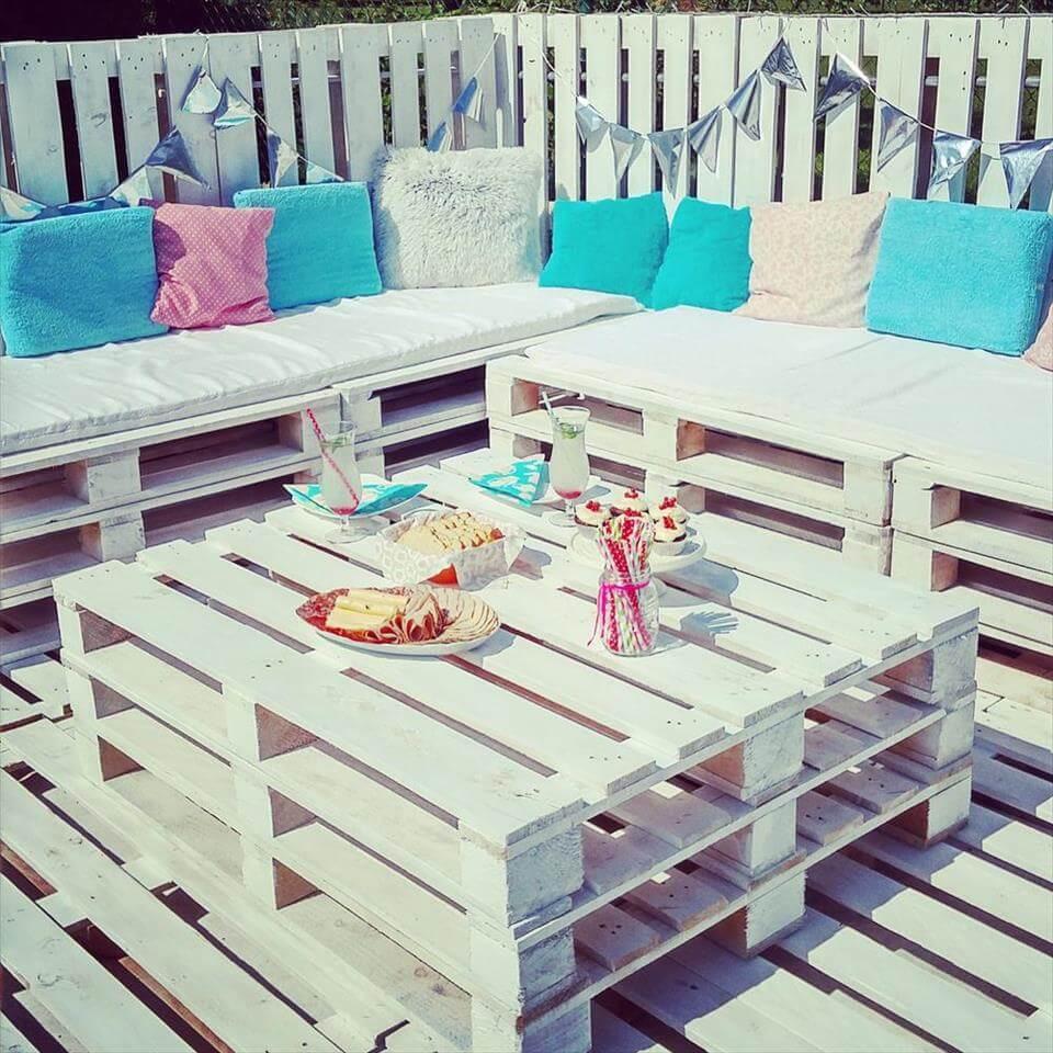 Pallets Garden Party Lounge - 101 Pallet Ideas