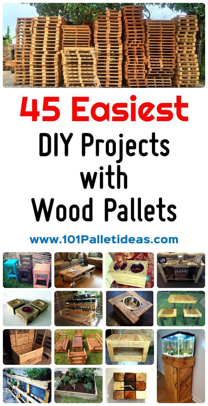 45 easiest diy projects with wood pallets - Diy projects with wooden palletsideas easy to carry out ...