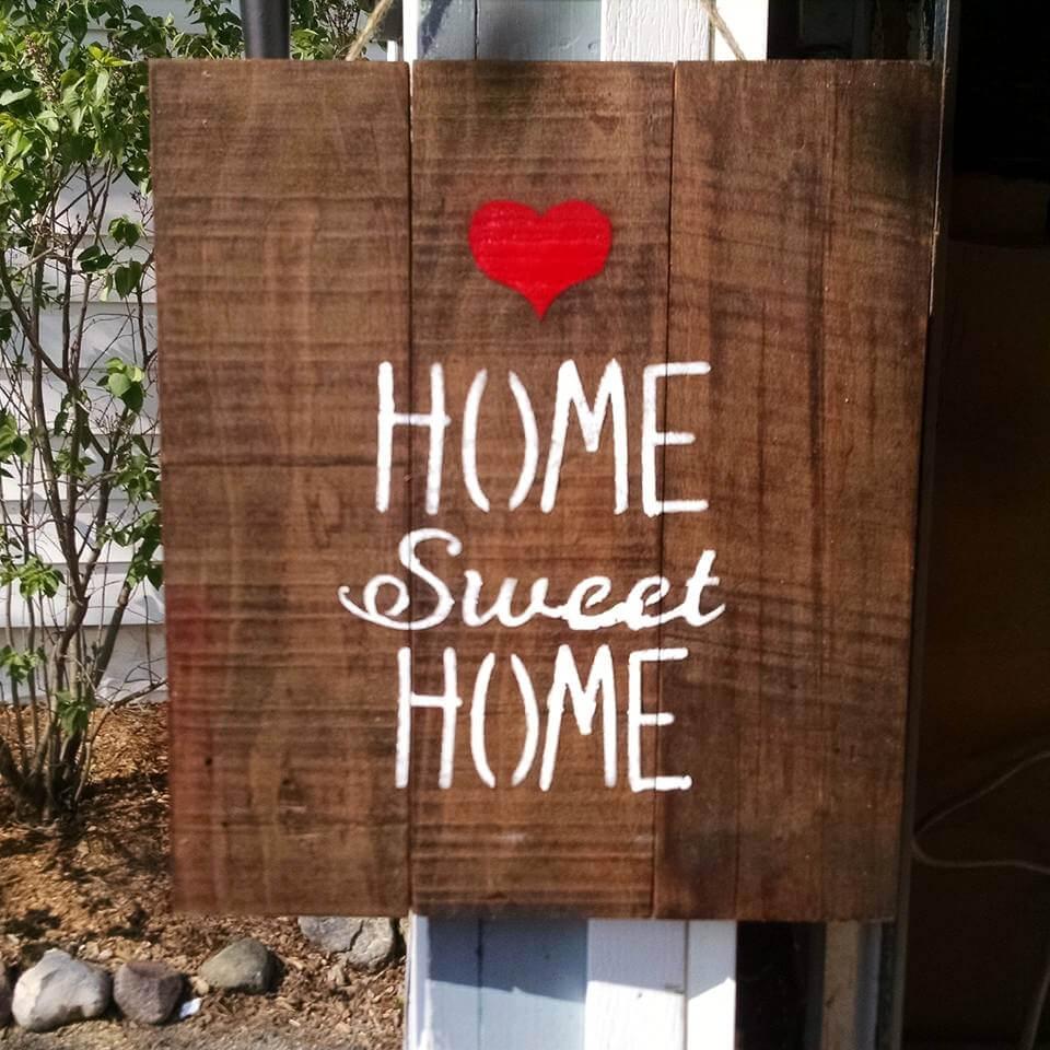 pallet Home Sweet Home wall art
