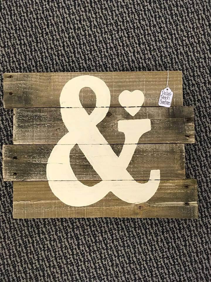 handmade pallet custom wall sign
