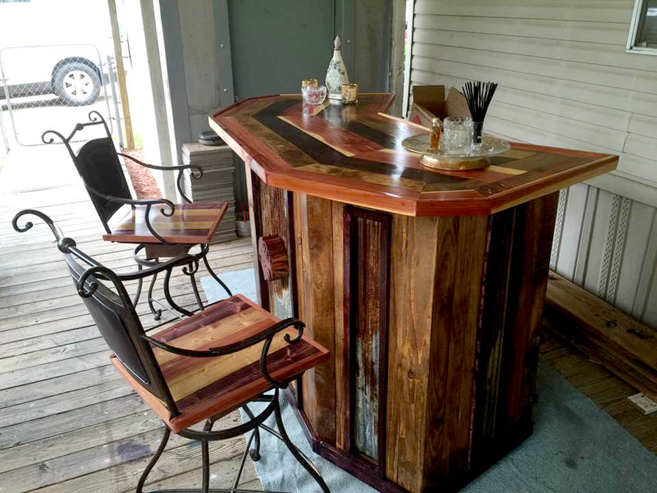 Pallet bar step by step instructions for Diy wood bar