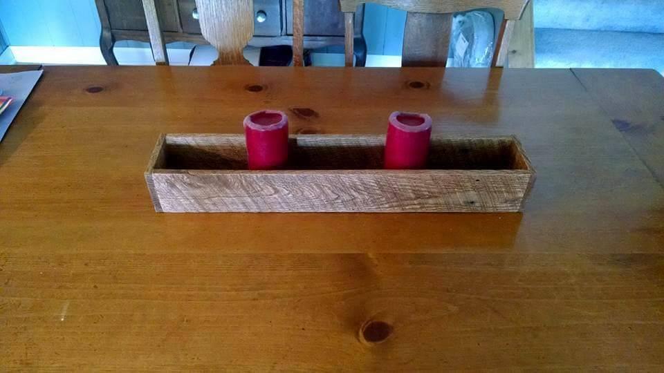 Pallet Candle Holder / Centerpiece