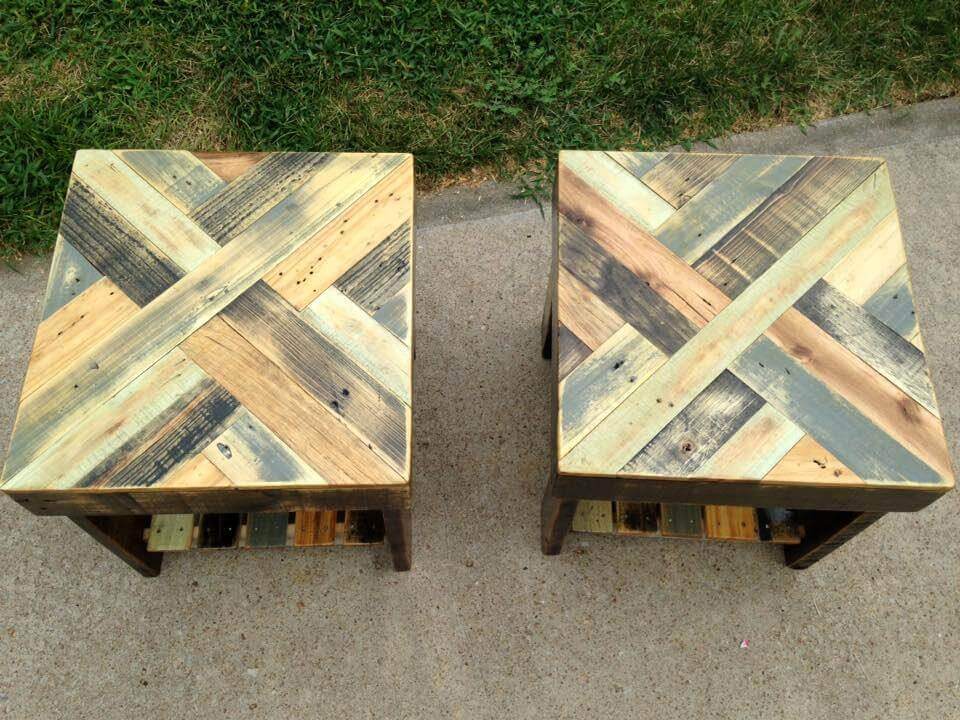 Diy pallet end tables for Pallet furniture projects
