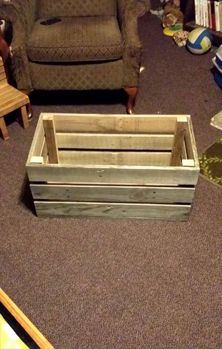 Easy & Simple Wood Pallet Toy Box