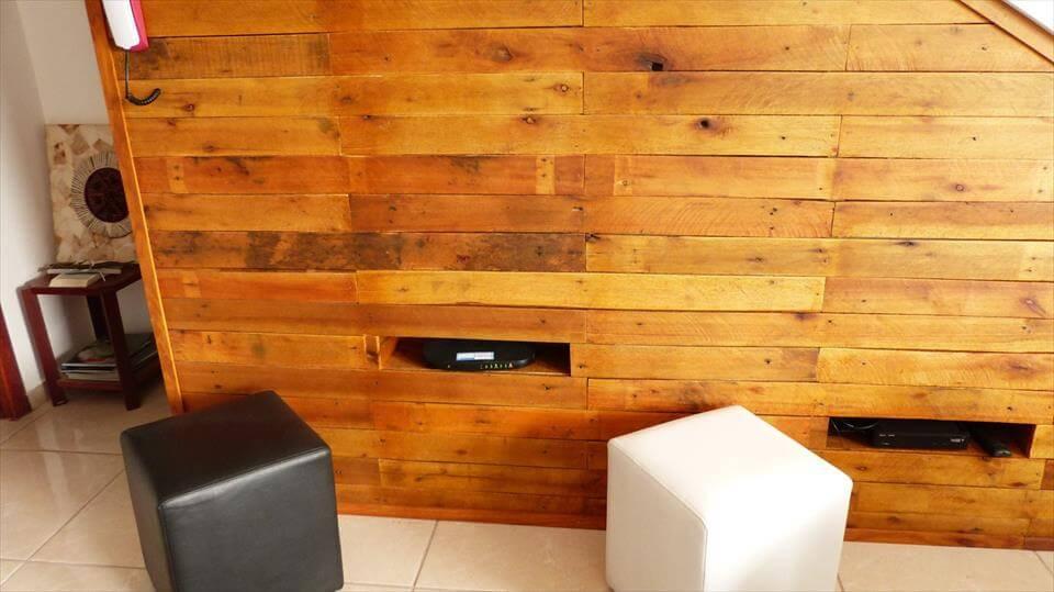 Under Stair Pallet Tv Panel Wall Storage 101 Pallet Ideas