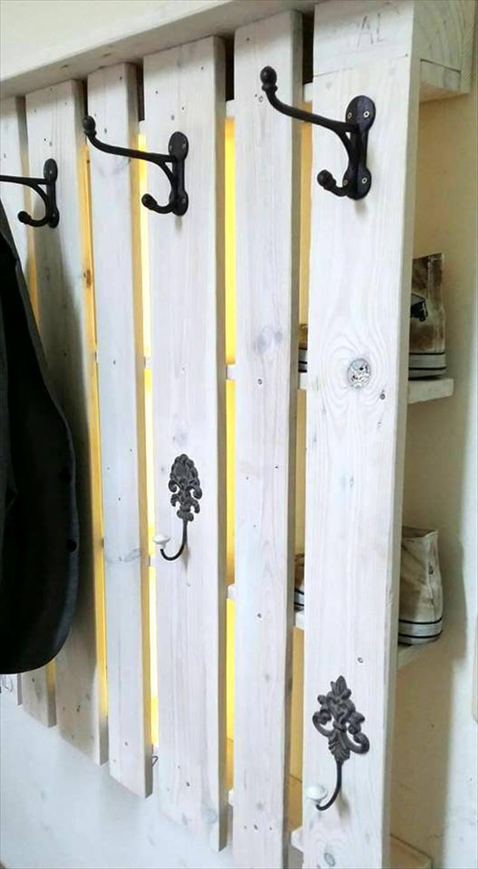 Rustic Inspired Pallet Coat Rack