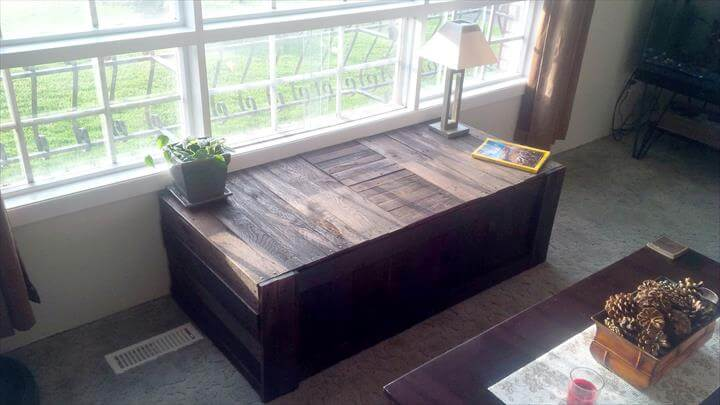 How To Build Window Bench With Pallets
