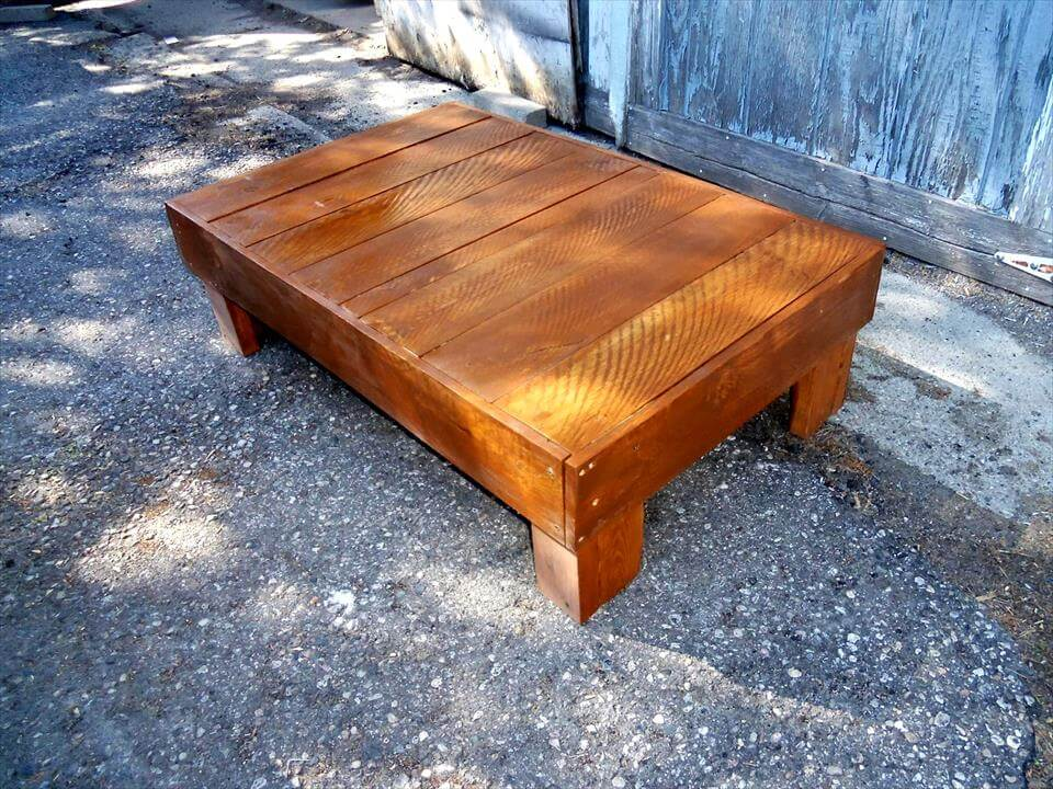 custom low pallet coffee table