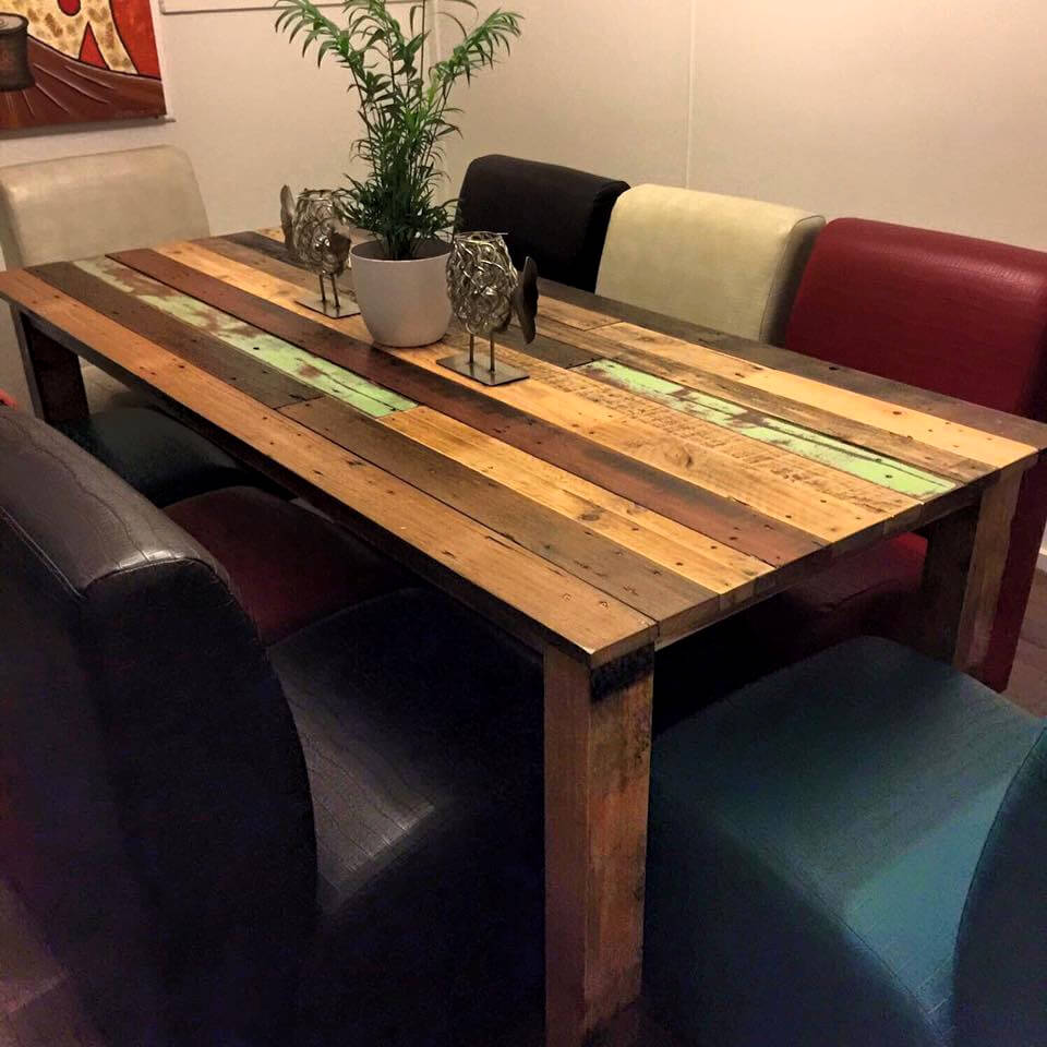 vintage pallet dining table