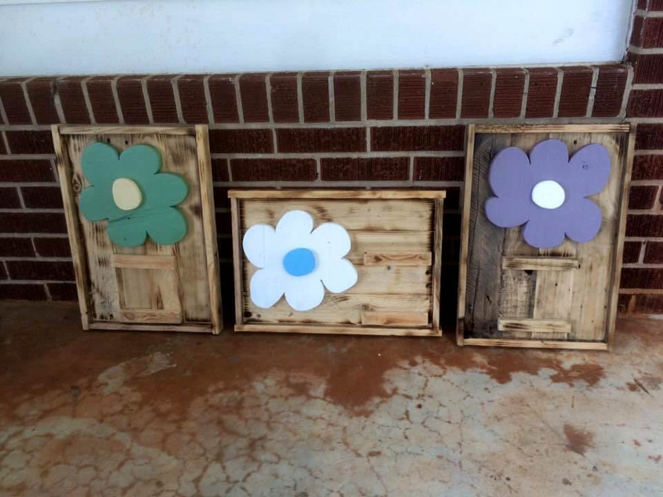 handmade pallet Mother's Day picture frame gifts