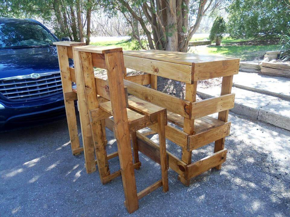 handmade pallet party furniture