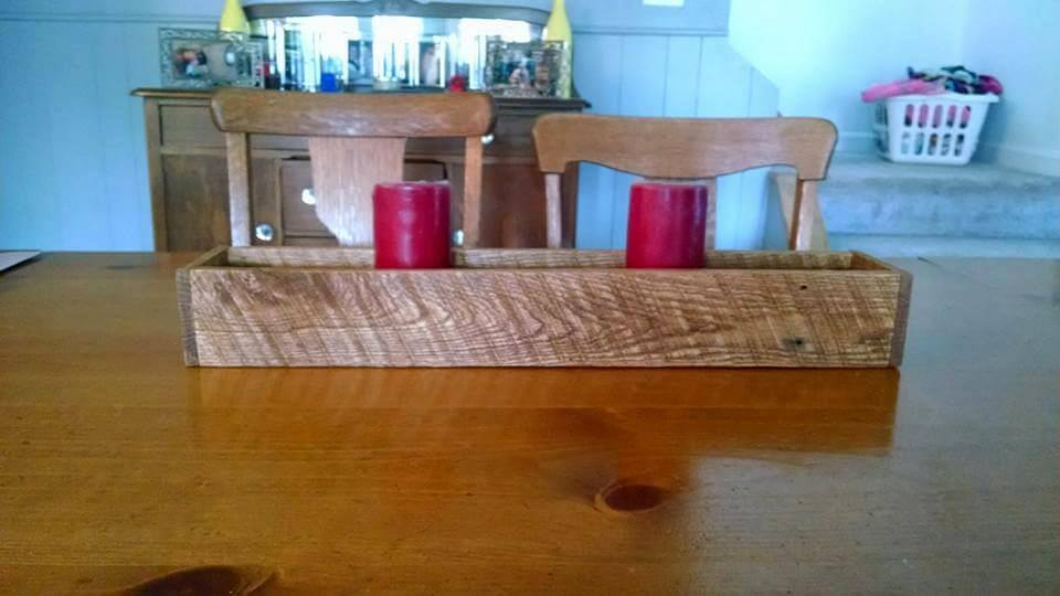 Wooden pallet made candle holder