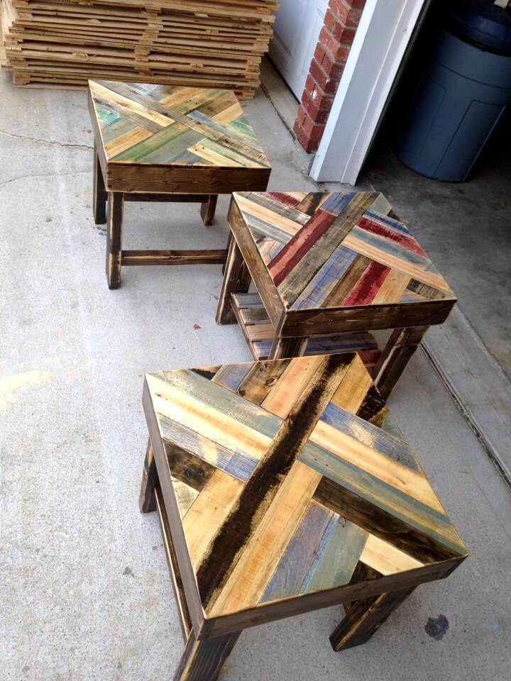 Diy pallet end tables for Pallet end table