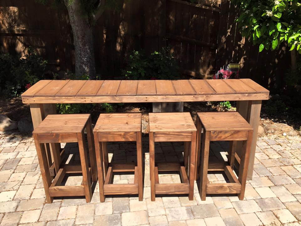 130 inspired wood pallet projects and ideas page 9 of for High top table designs