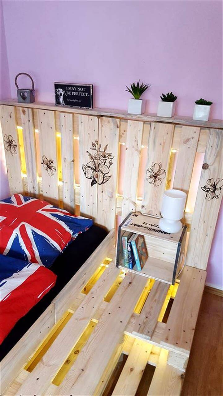 Wooden pallet toddler bed