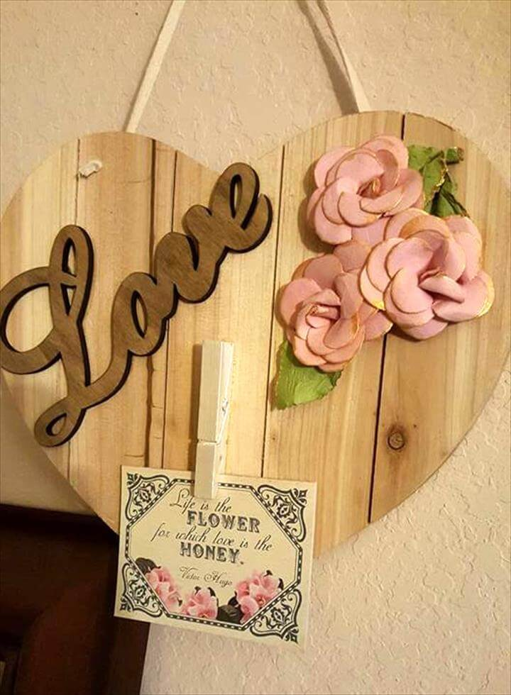 upcycled wooden pallet wedding gift
