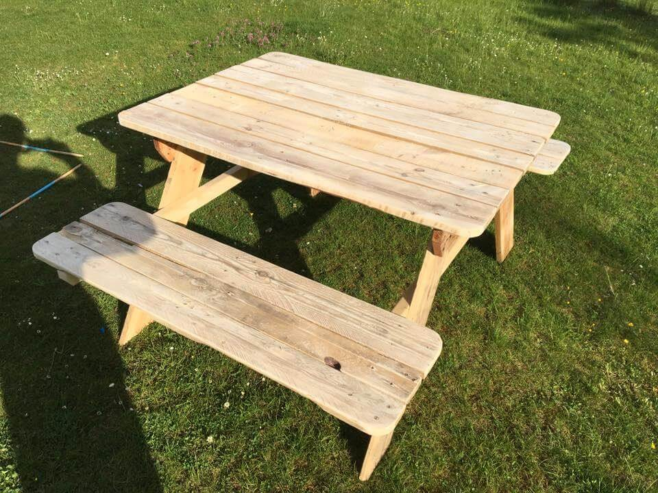 colorful pallet picnic table upcycled pallet picnic table for kids