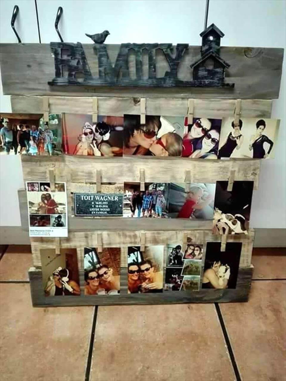 130 inspired wood pallet projects for Family display board ideas
