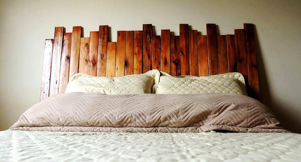 wood slat headboard  solar design, Headboard designs