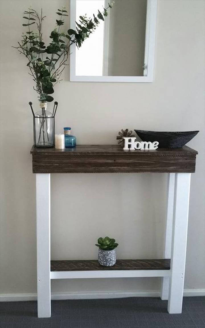 choco white pallet slim entry console