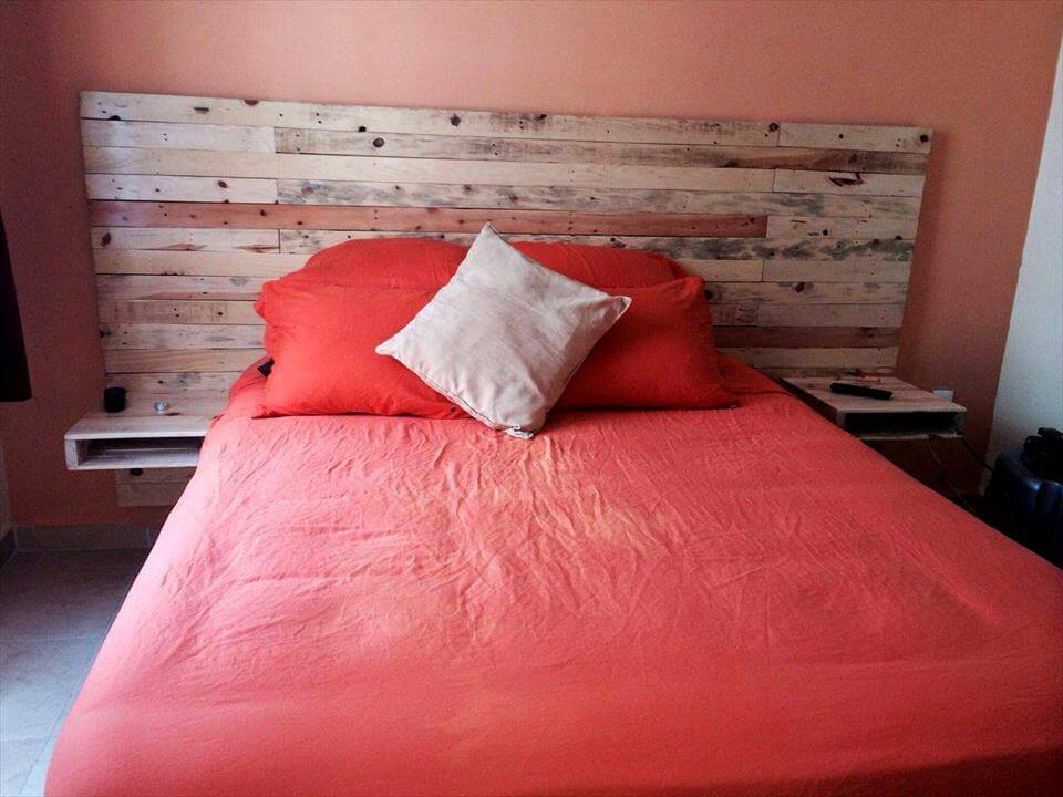 130 inspired wood pallet projects for How to make a wood pallet headboard
