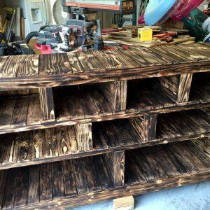 custom wooden pallet storage rack