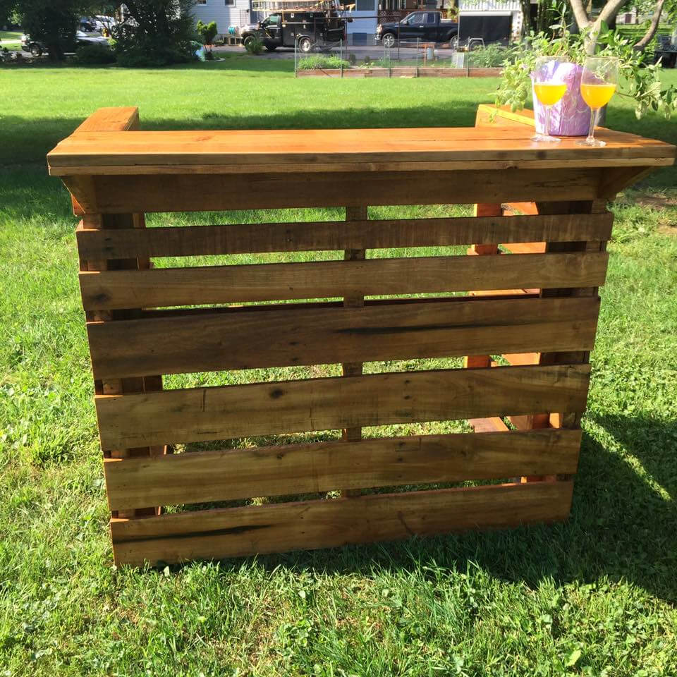 Oak Pallet Bar for Father's Day