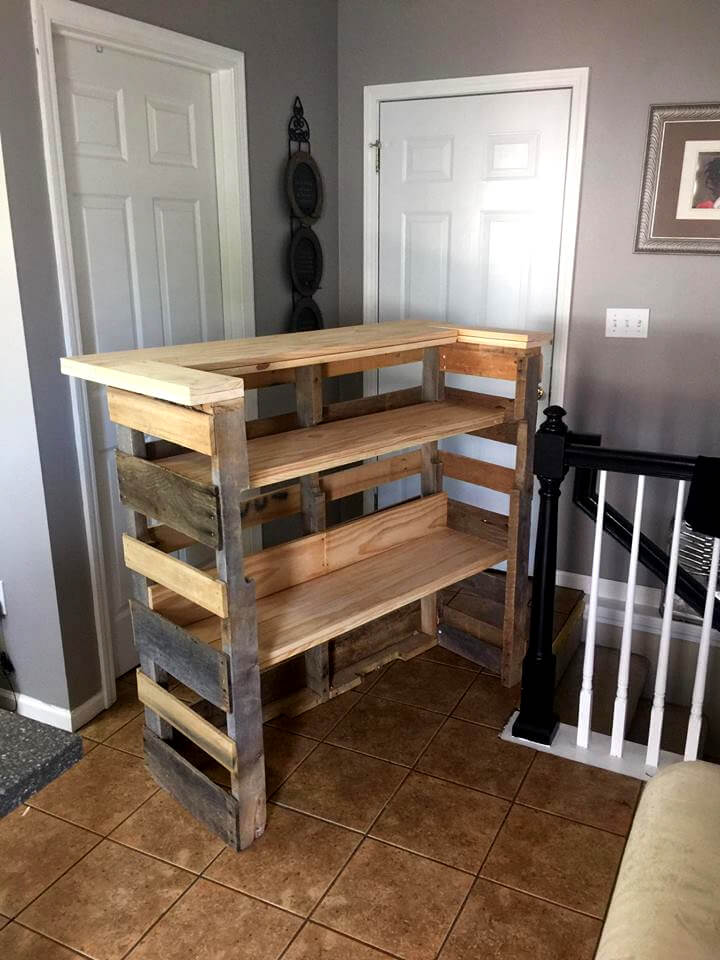how to build a pallet bar step by step