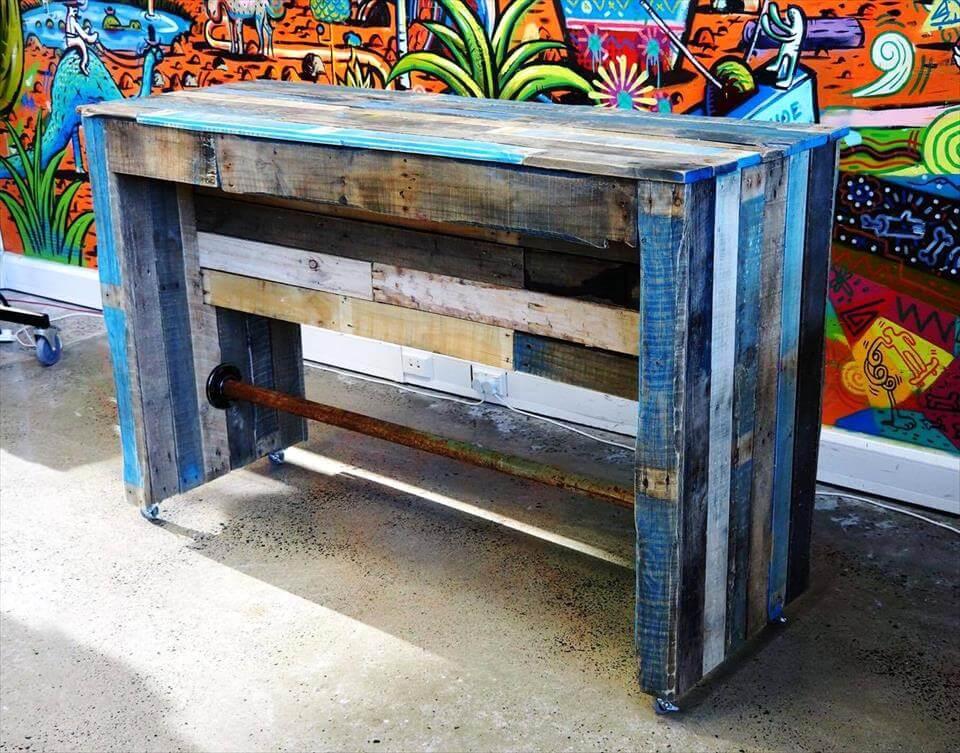wooden pallet bar